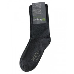 Chaussettes en chanvre et coton bio noire hempage