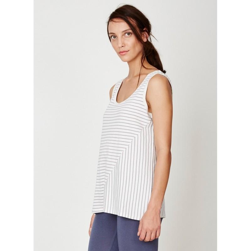 T-shirt en chanvre sans manches pour femme