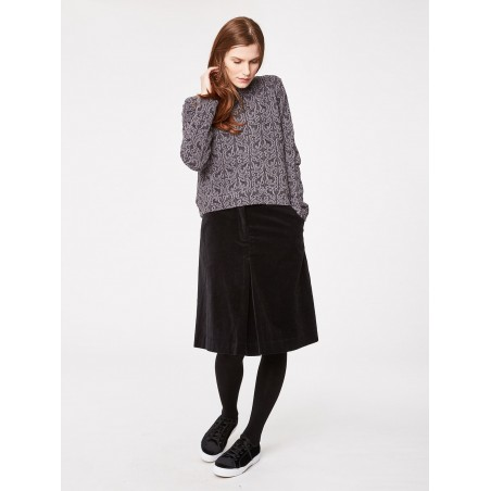 Organic cotton velvet skirt