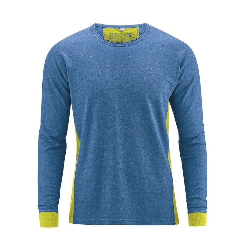 t-shirt en chanvre Homme bleu - HempAge