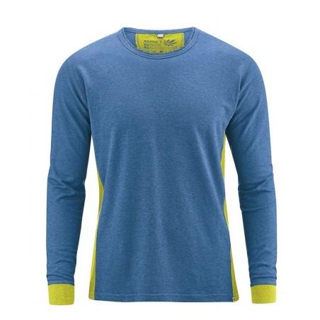 T-shirt manches longues végan en chanvre bi-couleur