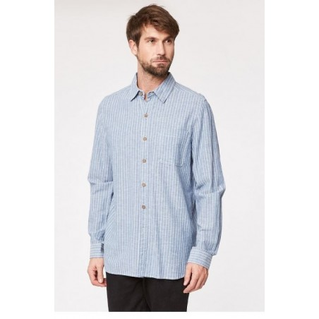 Classic stripe design hemp shirt