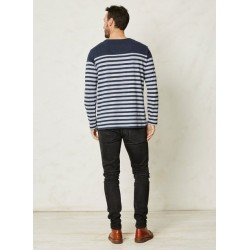Men's striped t-shirt blue or grey