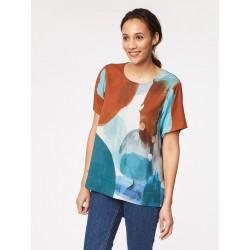 Tencel and bamboo woven tencel top