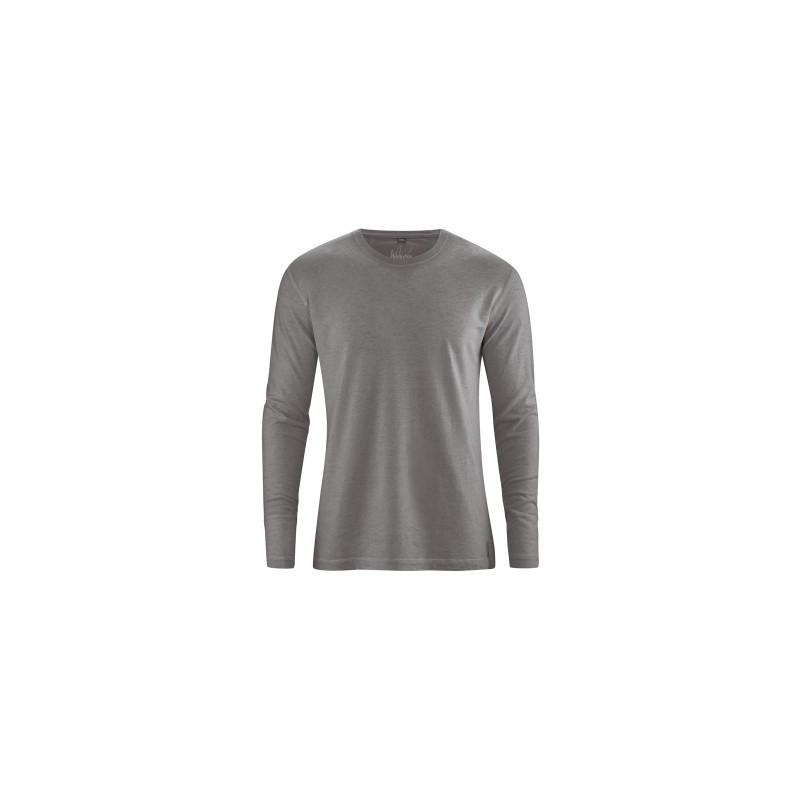 t-shirt en chanvre manches longues taupe