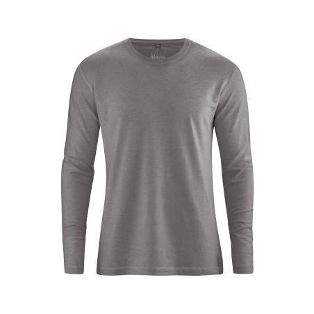 T-shirt en chanvre Homme manches longues taupe