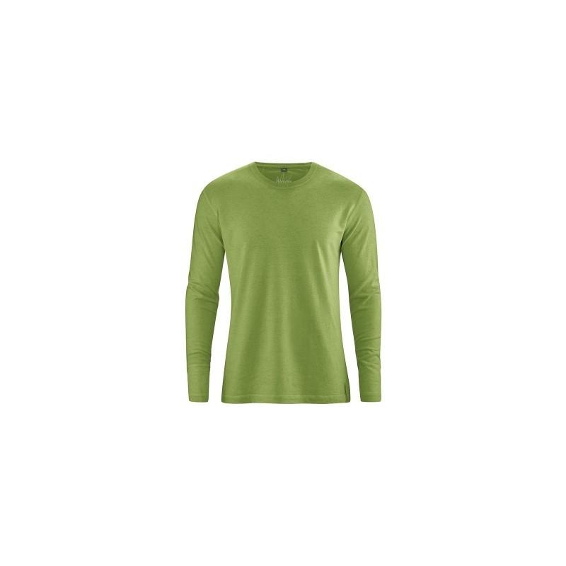 t-shirt en chanvre manches longues vert