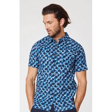 Chemise en chanvre pour Homme à manches courtes vintage