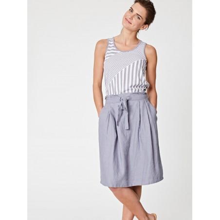 grey 100% hemp skirt