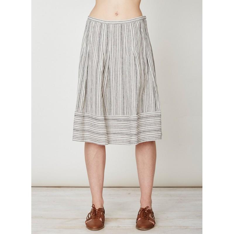 hemp skirt with embroidery