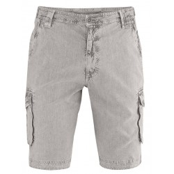 Grey hemp strong cargoshorts for men