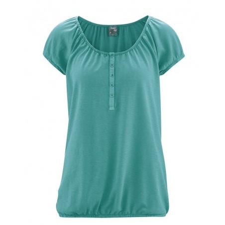 Green pacific elstic sleeves shirt