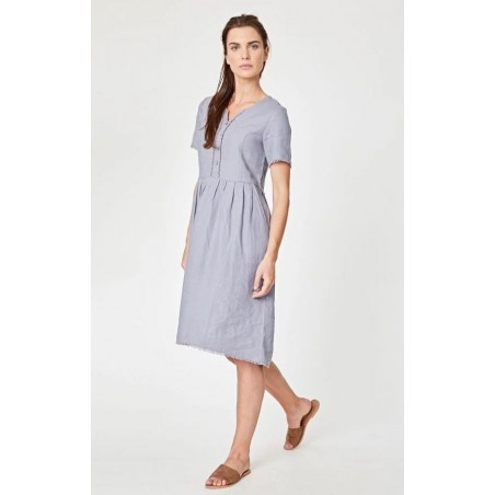 100% hemp pebble grey dress