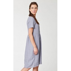 ROBE gris taupe 100% chanvre