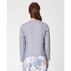 Veste en chanvre taupe gris pour femme