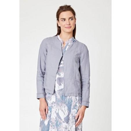 100% hemp grey jacket for women