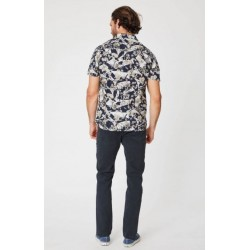organic mens floral short sleeve shirt