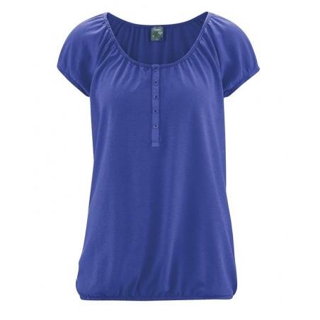 Blue pacific elastic sleeves shirt