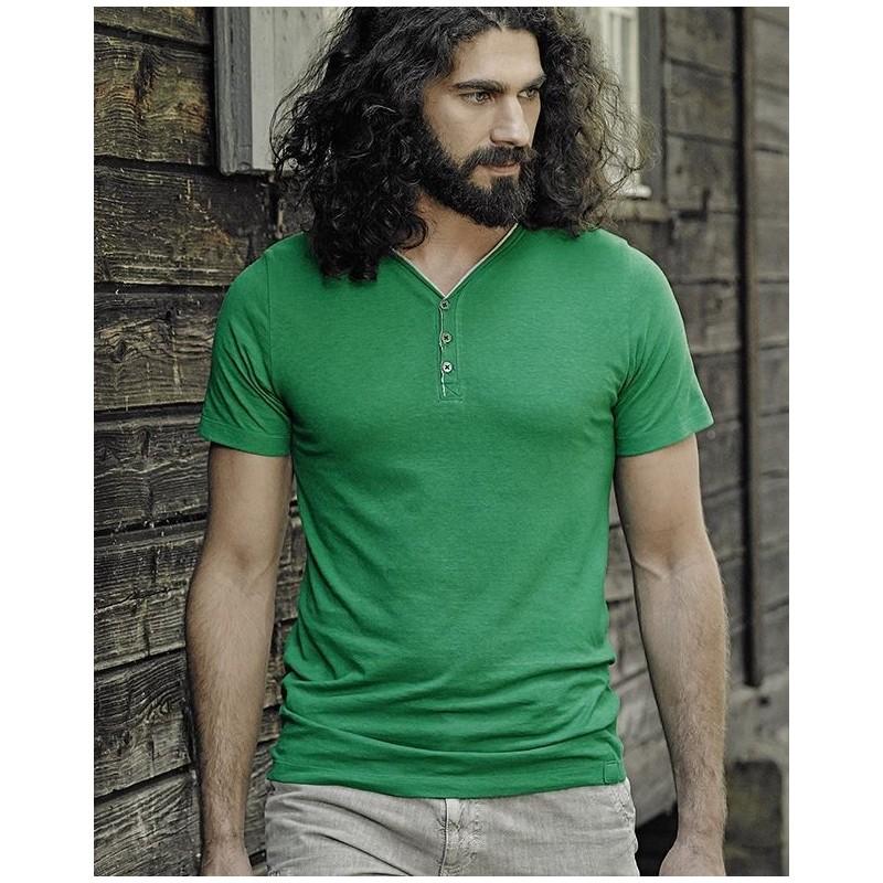 T-shirt gris taupe en chanvre Homme - HempAge