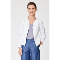 Veste en chanvre blanche pour femme