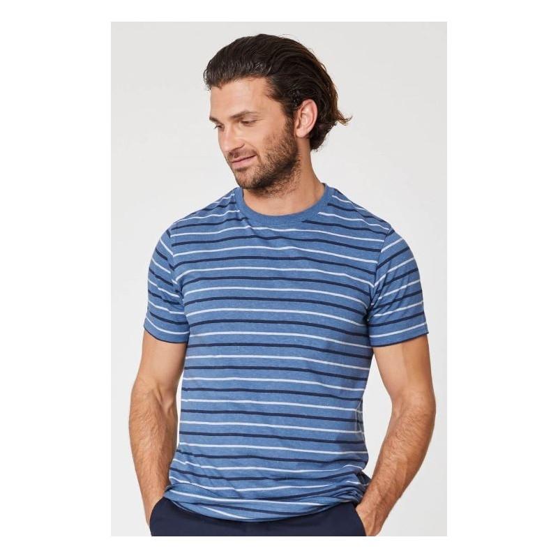 T-shirt en chanvre et coton bio homme rayures