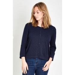 Gilet bleu coton bio