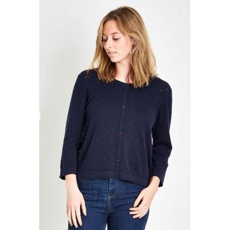 Blue Soft, luxe, classic designed cardigan
