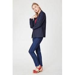 veste blazer éthique bleu bio