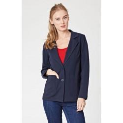 Veste blazer bleu coton  bio et nylon recyclé Femme