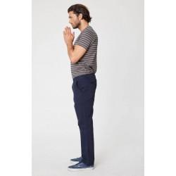 Pantalon 100% coton bio bleu marine homme