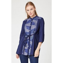 Japanese-inspired hemp tunic