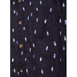 Chemise bleue en chanvre coton bio  homme