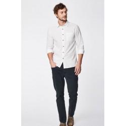 Chemise en chanvre bleue ou blanche homme