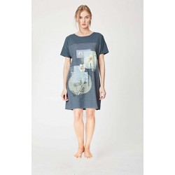 lyocell nightie tunic floral printed