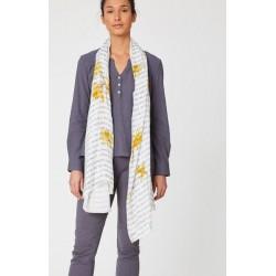 Foulard en fibre de bambou poesie