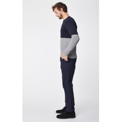Pantalon jean homme coton bio bleu marine