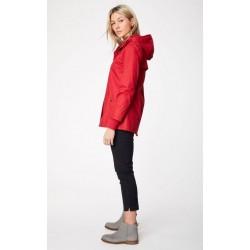 manteau rouge Imperméable 100% coton bio -