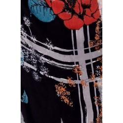 Foulard 100%  fibre de bambou motif floral