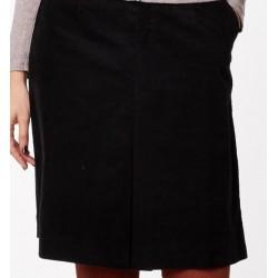 Jupe velours noire en coton biologique
