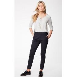 pantalon femme en coton bio gris
