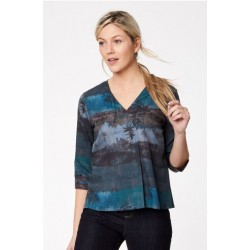 Printed lyocell Jersey Back Top