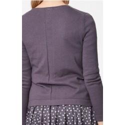 Gilet tricot en laine et coton bio: 2 coloris au choix