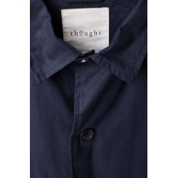 veste imperméable homme bleue