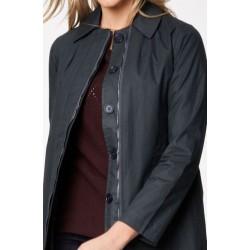 manteau gris Imperméable 100% coton bio -