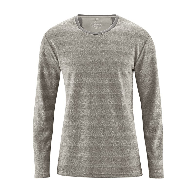 vegan knitted pullover for man Taupe