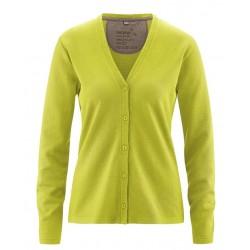 Gilet en chanvre et coton bio vert