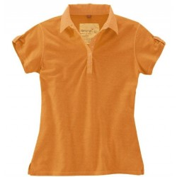 Polo femme en chanvre orange