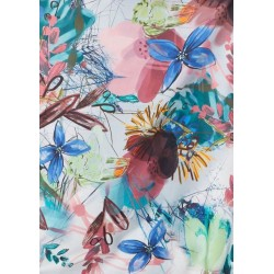 woven tencel scarf with flowers