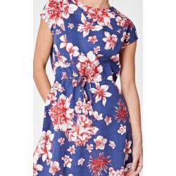 Natural flower lyocell dress
