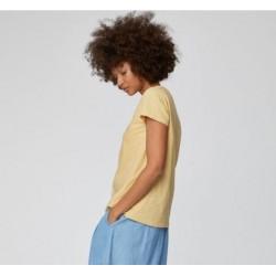 Stripe hemp jersey top